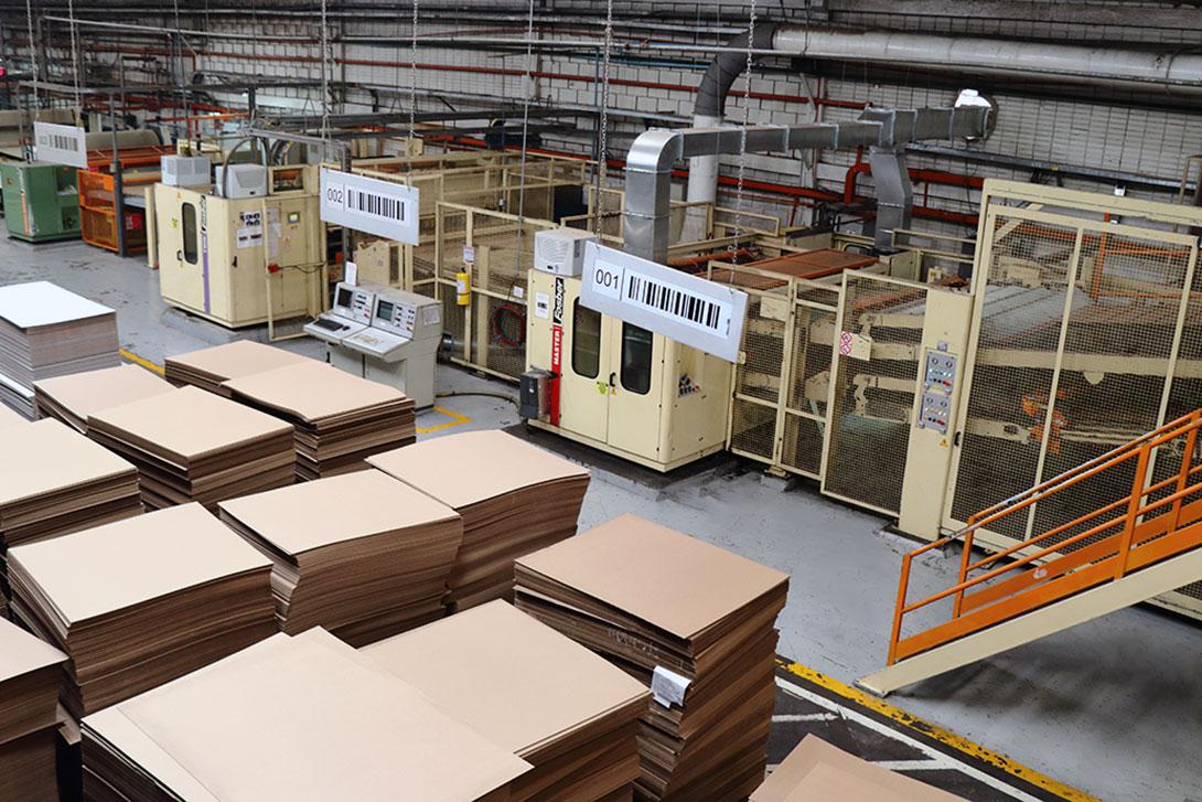 Lamina de cartón corrugado Empacor