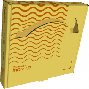 Sudelec exhibidoras  vajillas: Cajas para vajillas en peltre que protegen el producto y permiten exponer partes del producto para exhibir el acabado.